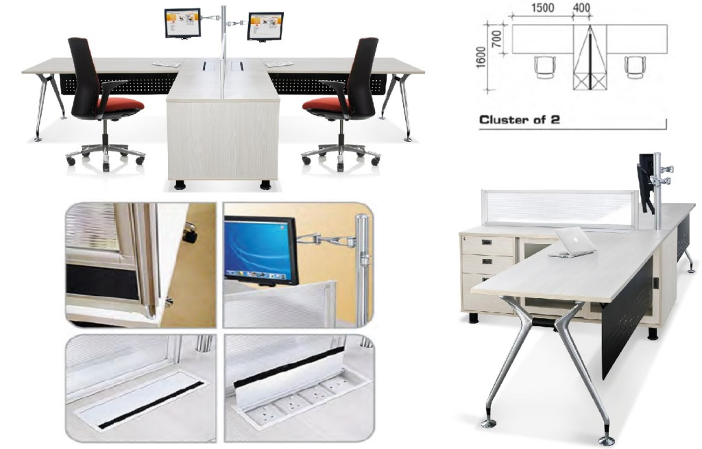 office furniture singapore office partition 28mm Office Cubicle 12 computer workstation