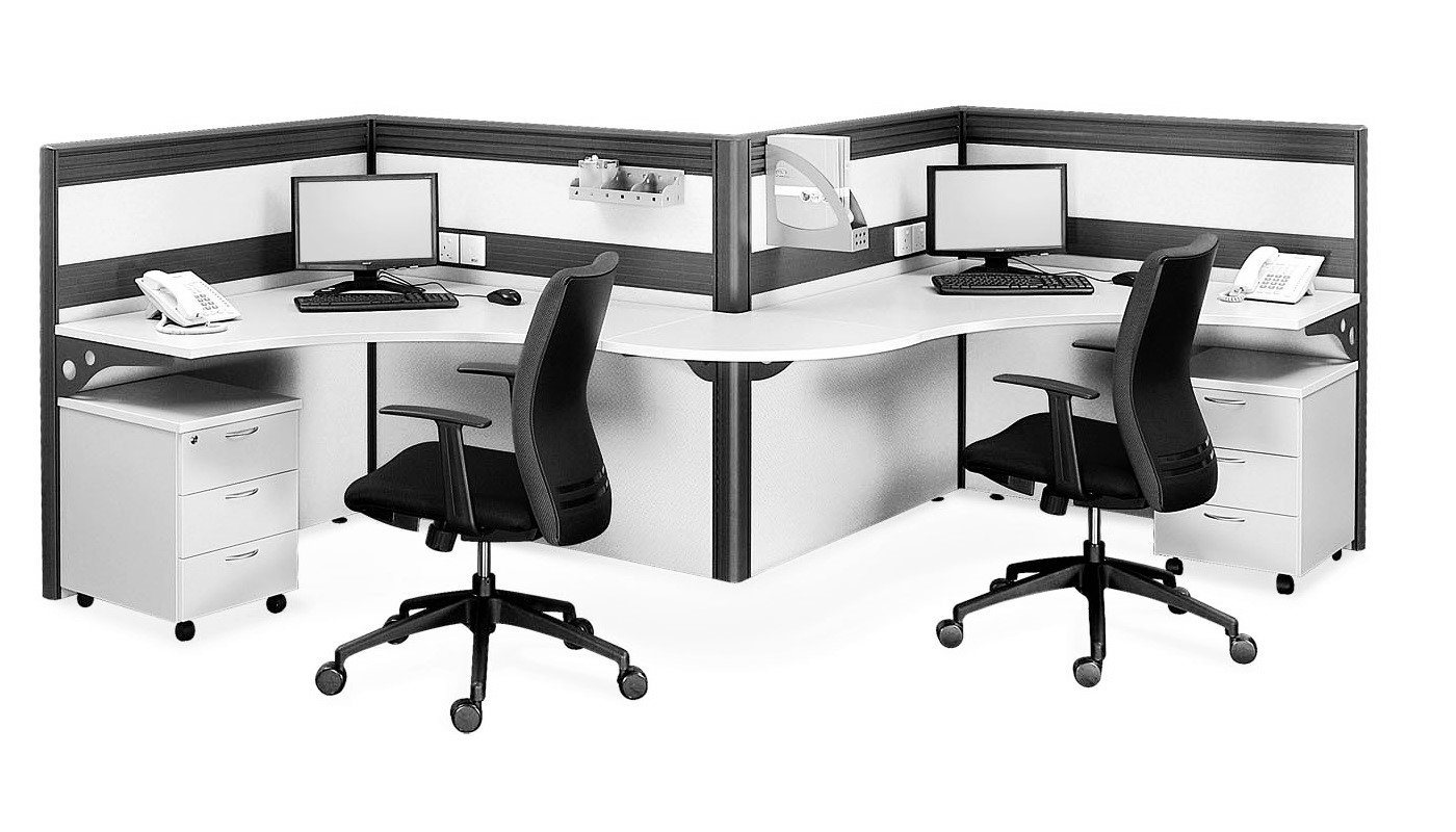 office furniture singapore office partition 28mm Office Cubicle 31 (2) pc table