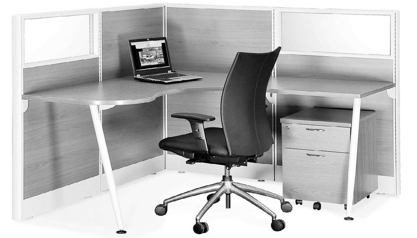 office furniture singapore office partition 28mm Office Cubicle 34 (2) workstation desk
