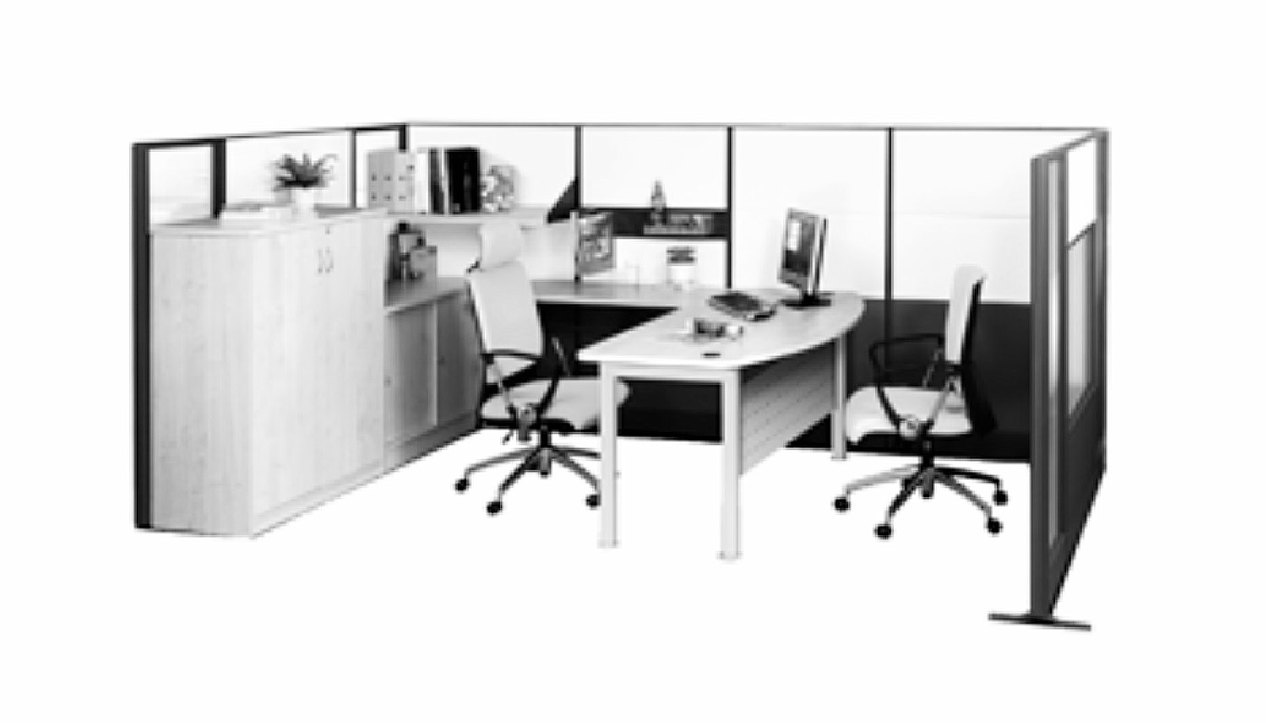 office furniture singapore office partition 28mm Office Cubicle 39 (2) commercial furniture