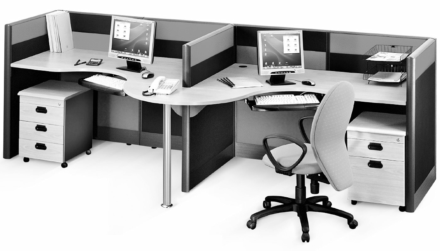 office furniture singapore office partition 28mm Office Cubicle 40 (4) workstation screen