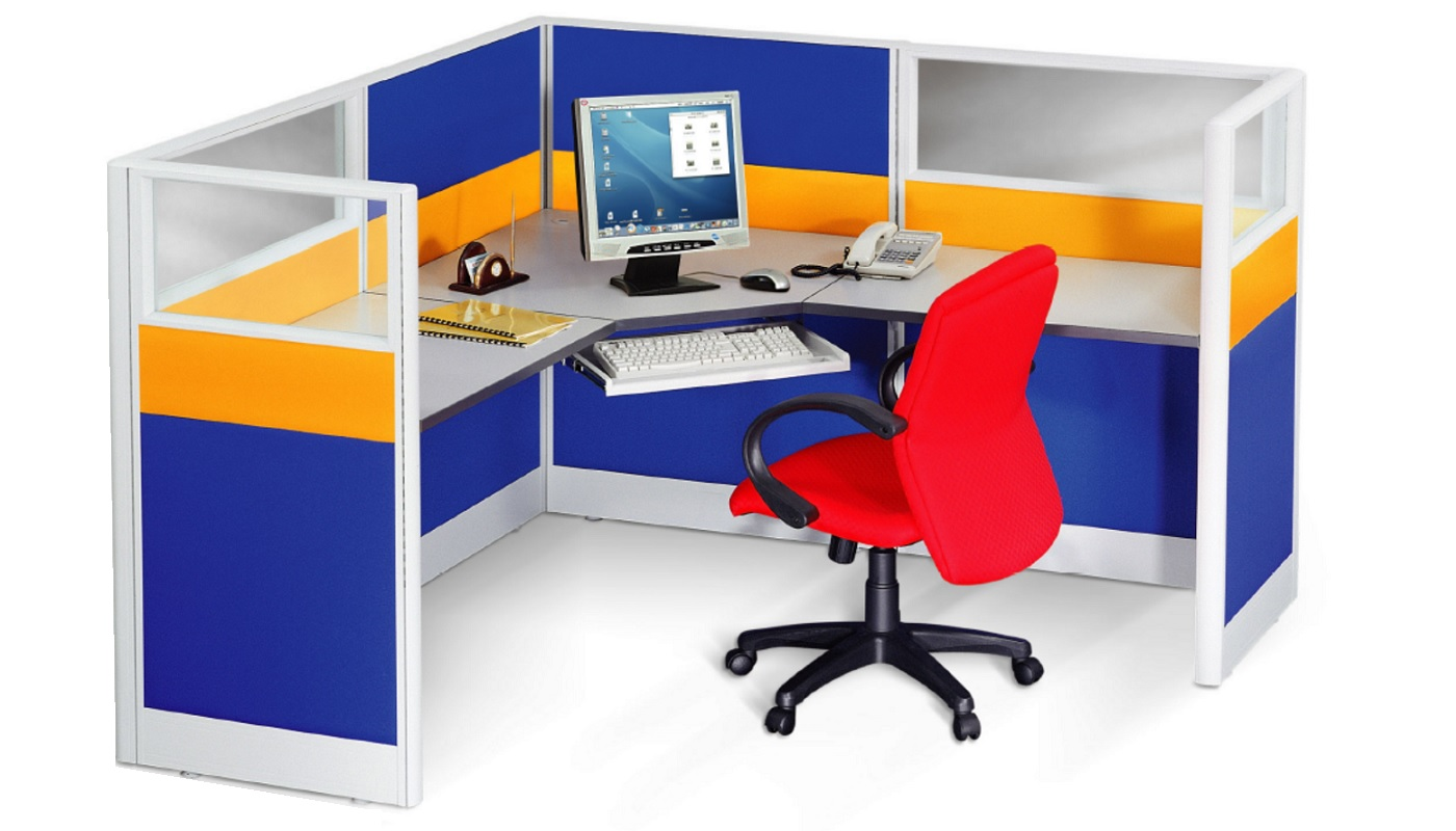 office furniture singapore office partition 28mm Office Cubicle 41 (3) desk system