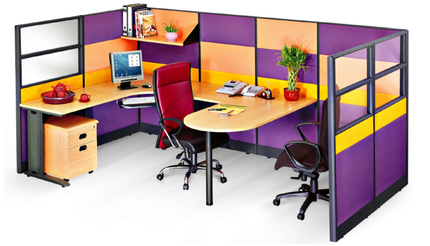 office furniture singapore office partition 28mm Office Cubicle 42 (3) block system