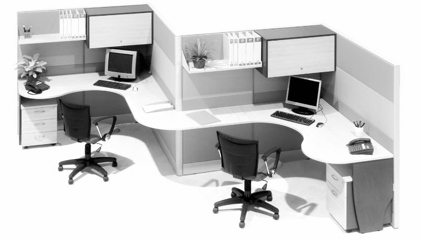 office furniture singapore office partition 28mm Office Cubicle 53 (2) block system