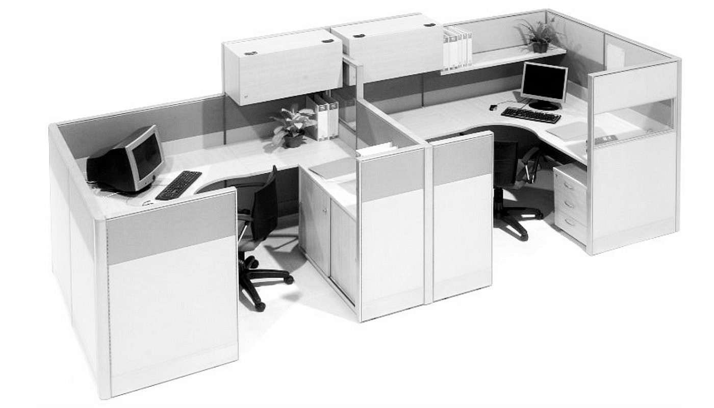 office furniture singapore office partition 28mm Office Cubicle 56 (2) workstations