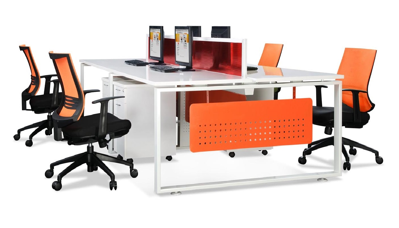 office furniture singapore office partition 28mm Office Cubicle 7 workstations