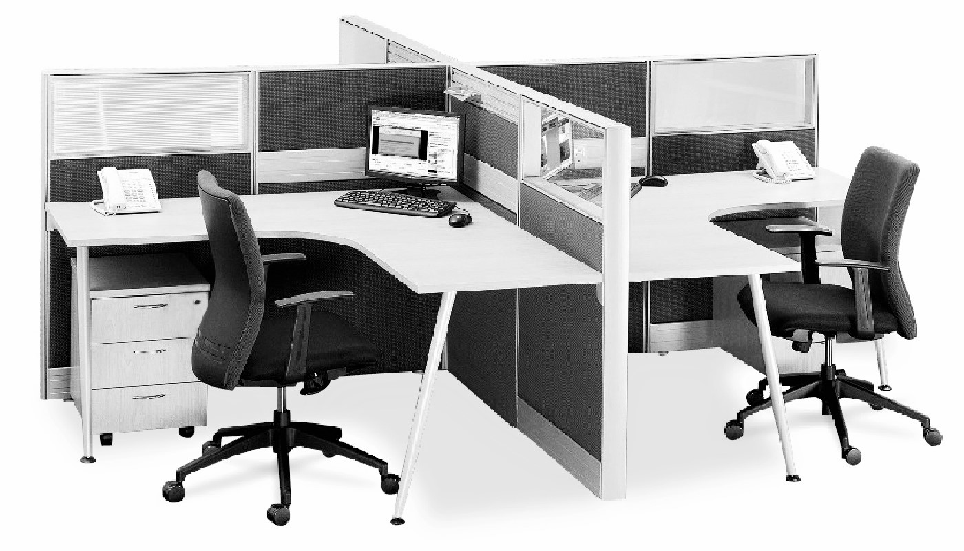 office furniture singapore office partition Office Cubicle 54 (2) L shaped desk